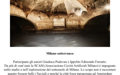 8 marzo 2018. La Milano sotterranea alla libreria Parole e Pagine