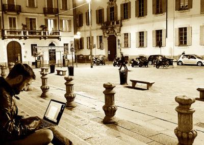 Milano, novembre 2017 - Ippolito in piazza S. Alessandro