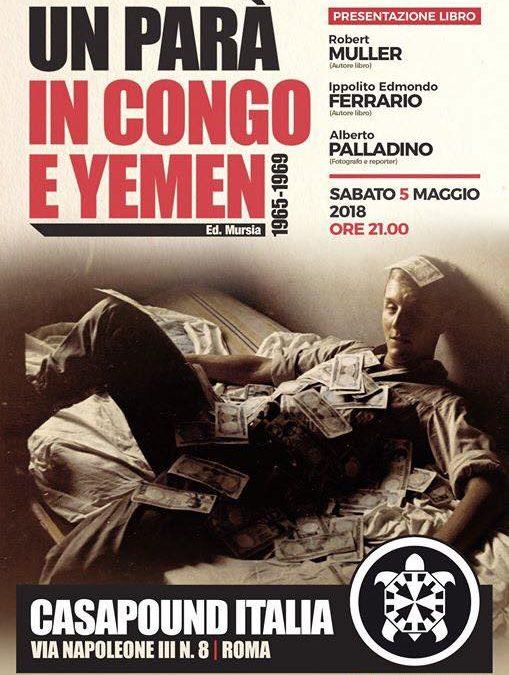 """Firenze e Roma. Due importanti tappe delle presentazioni del libro """"Un parà in congo e Yemen"""""""