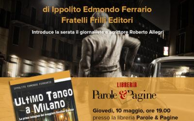 """Presentazione del romanzo """"Ultimo Tango a Milano"""""""