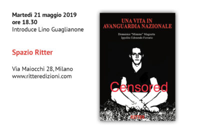"""La prima presentazione milanese del libro """"Una vita ad Avanguardia Nazionale"""""""