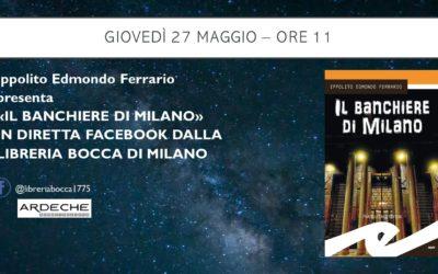 Il banchiere di Milano approda alla storica Libreria Bocca di Milano